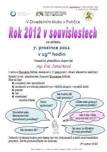 Pozvánka - rok 2012 v souvislostech